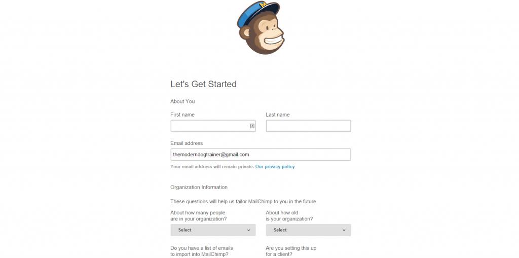 set up an email newsletter 3
