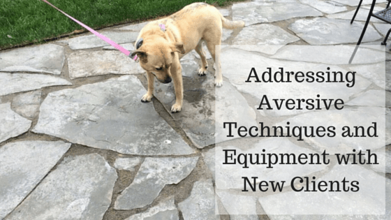 Addressing Aversive Techniques and Equipment with New Clients