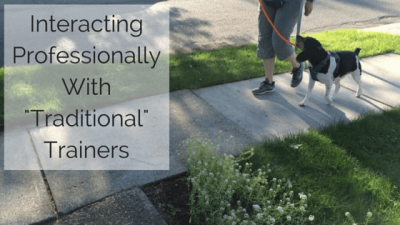 "Interacting Professionally With ""Traditional"" Trainers"
