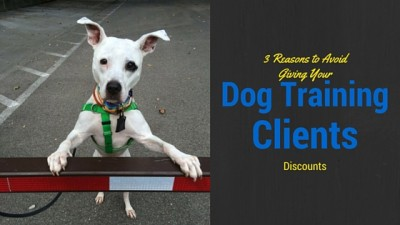 3 Reasons to Avoid Giving Your Dog Training Clients Discounts