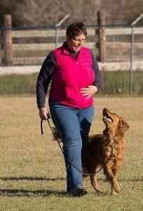 Karen with Cassidy competing early this year. Image from Karen Deeds