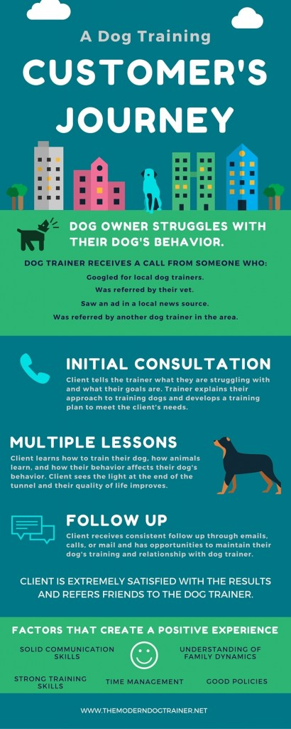dog training client journey