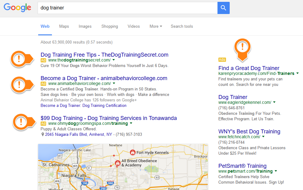 Adwords for dog trainers