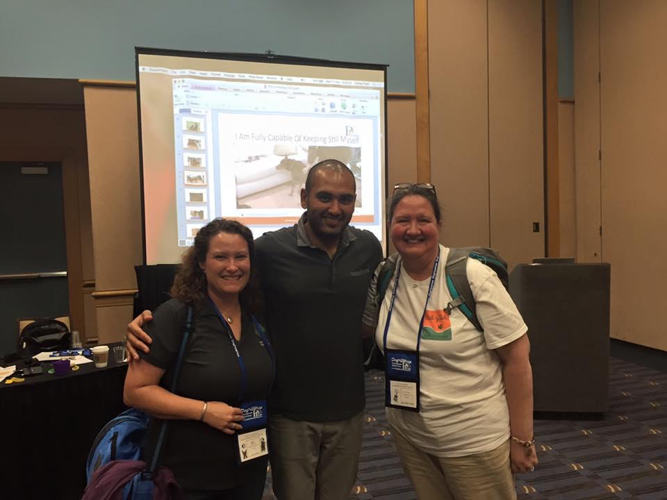 Chirag Patel with Laurie and Ashley