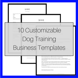 Customizable Dog Training Business Templates