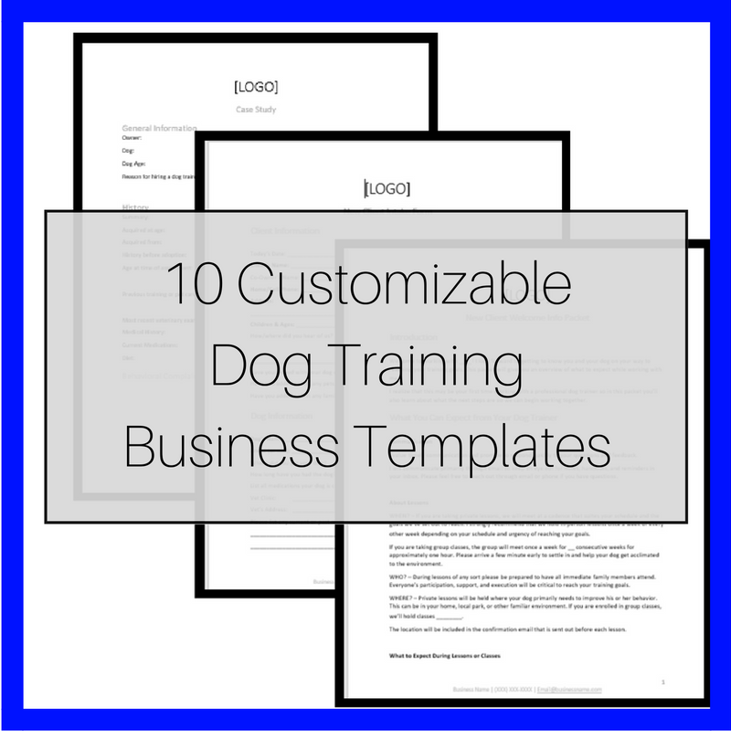 Customizable Dog Training Business Templates