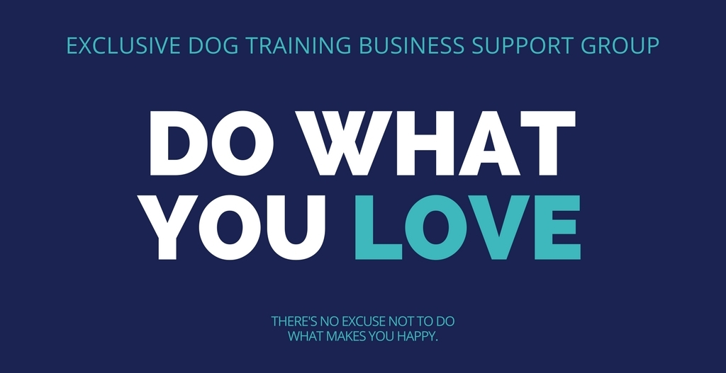 dog training business facebook group