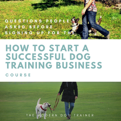 "Questions People Asked Before Signing Up for the ""How to Start a Successful Dog Training Business"" Course"
