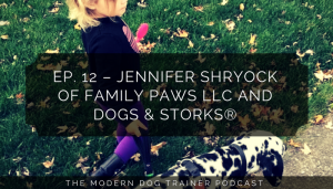 Podcast interview with Jennifer Shryock of Family Paws LLC and Dogs & Storks®