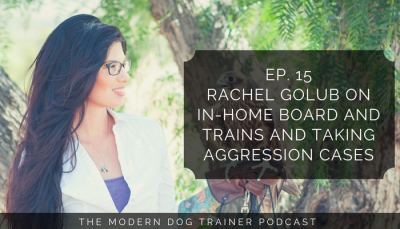 Ep 15 – Rachel Golub on In-Home Board and Trains and Aggression Cases